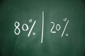 The Pareto Principle, otherwise known as the 80/20 rule is commonly referenced in business and economics.